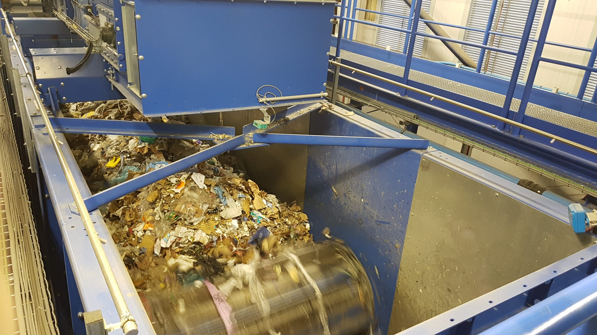 Flame Detector protecting Waste Recycling Dosing Bunker