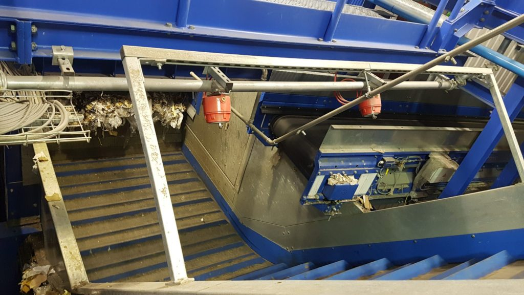 Ember Detectors on Incline Conveyor